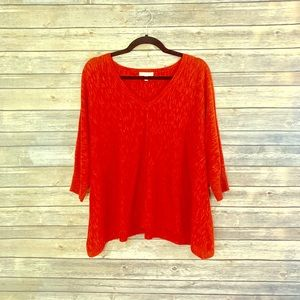 Eileen Fisher red top size small